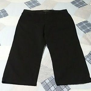 Lauren Jeans Co Ralph high waist black capri sz 12