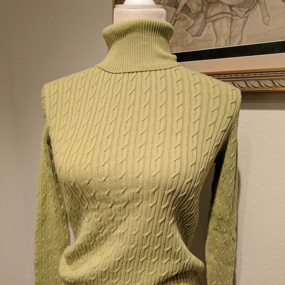 Talbots Sweaters Women Ps Cable Knit Turtleneck Sweater Poshmark