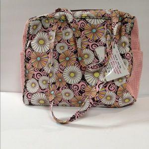 B's bag diaper new tags pink brown