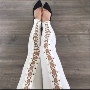 Pants - Sexy Front Lace X up legging