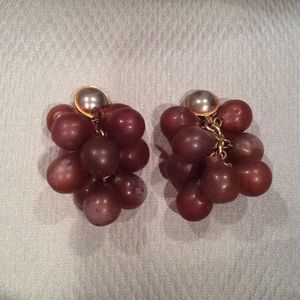 "ART DECO ""GRAPE CLUSTER"" CLIP EARRINGS"