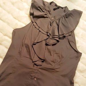 BCBGmaxazria ruffled sleevless blouse