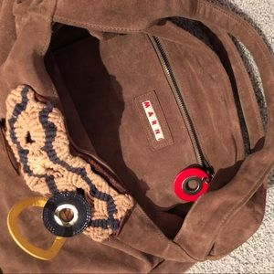 ec7c2ad2bc Marni Bags - MARNI suede leather brown slouchy hobo bag