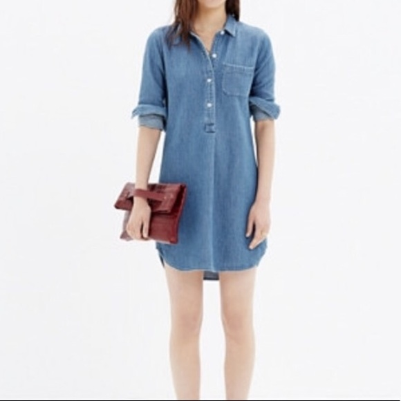 52dc559ec3 Madewell Dresses   Skirts - Madewell chambray popover shirtdress