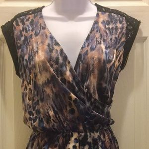 Collective Concepts Sleeveless Leopard Dress