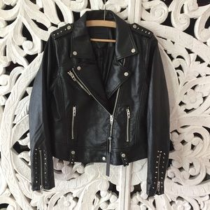 Blank NYC Jackets & Coats - BLANK NYC Studded Faux Leather Moto Jacket