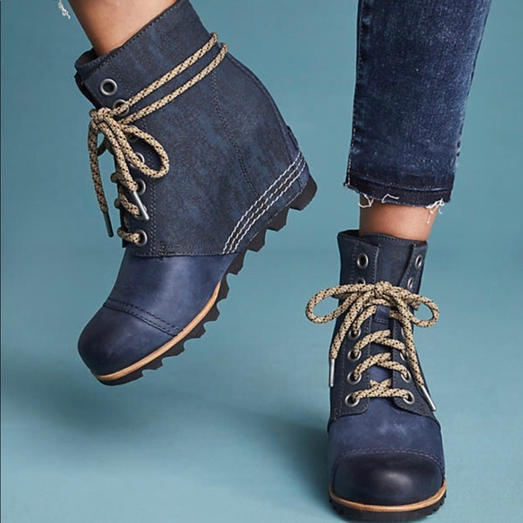52fcac26a09 Sorel PDX wedge bootie  navy