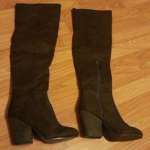 H&M Suede Heel Boots