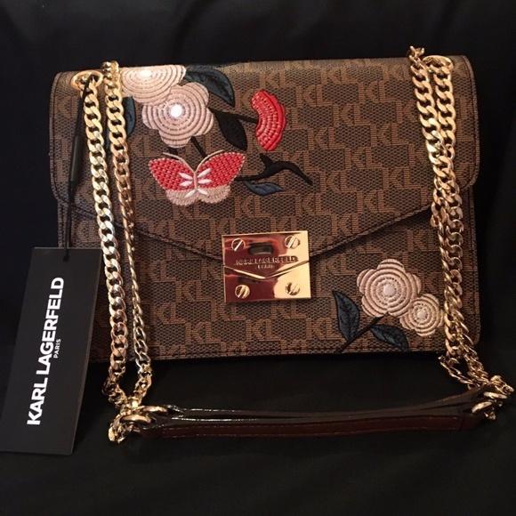a4b3550167d4 Karl Lagerfeld Bags | Saffiano Leather Shoulder Bag | Poshmark
