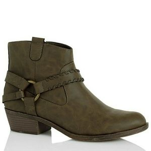 New! XOXO Western Ankle Booties Boots New With Box