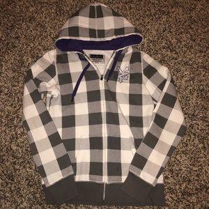 Grey, white & purple Zoo York zip up hoodie