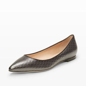 ✨SALE✨ Club Monaco Black Leather Pointed Toe Flats