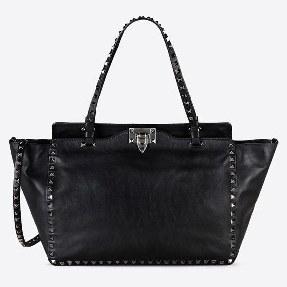 b96e192bde Valentino Rockstud Noir Medium Leather Black Tote.  M_59fd5b25c284568ff9074278