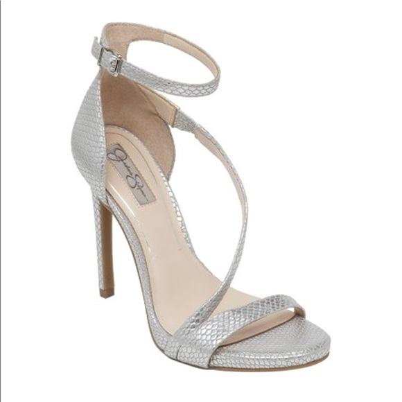 6e0a688c3958e1 Jessica Simpson Shoes - Jessica Simpson Rayli Silver Heels