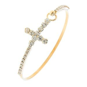Dainty Cross Gold Bracelet