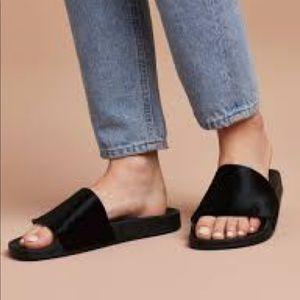 8f69ae0416e9 adidas Shoes - Adidas adilette premium lux pony hair pool slides