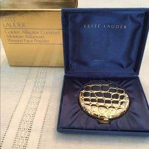 Estee Lauder golden alligator  powder compact