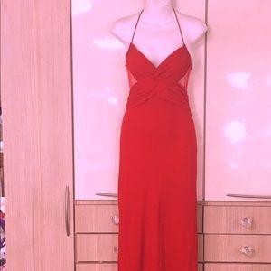 Valentino boutique silk mesh gown / maxi dress