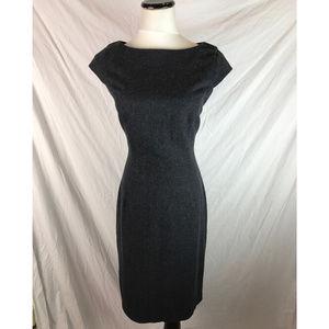 Pim + Larkin Gray Wool Blend Cap Sheath Dress