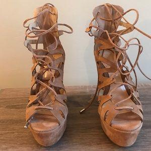 Schutz Gladiator Wedge Sandal (women's)