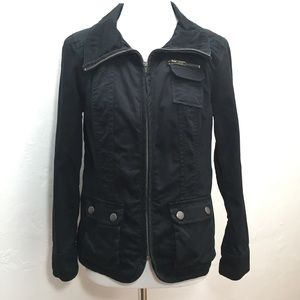Style & Co. Black Petite Utility Jacket