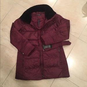 NWTLauren Ralph Lauren down coat Size M wine color