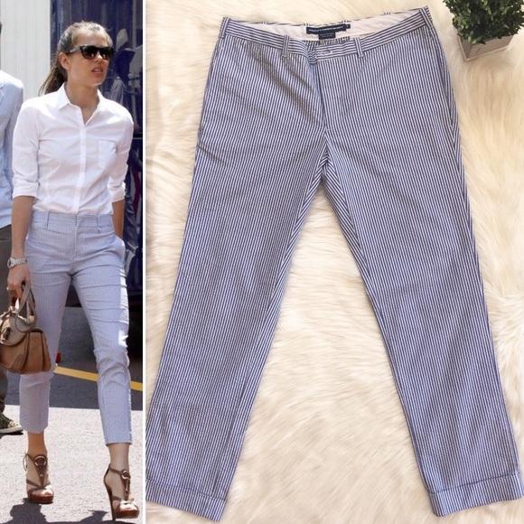Ralph Lauren Pants Jumpsuits Sport Stripe Seersucker Womens