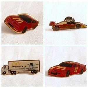 Lot of Vintage McDonalds Racecar & Truck Pinbacks!