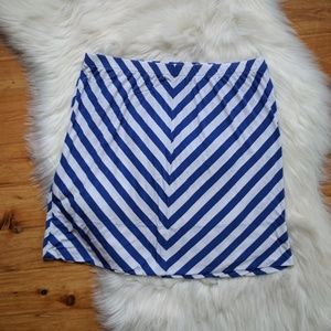 Merona mini navy stripe skirt