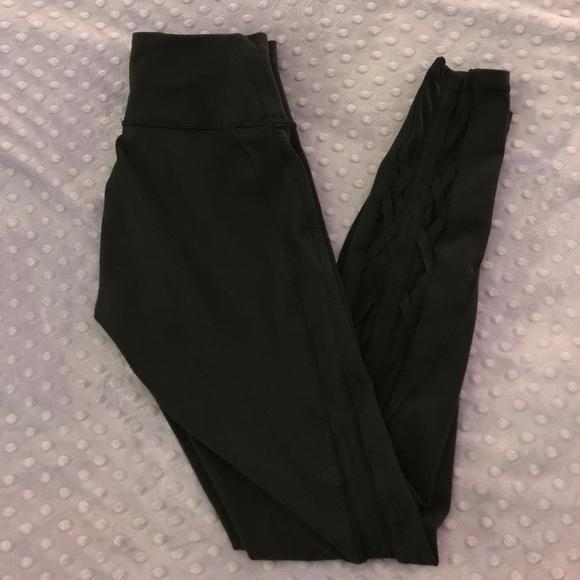 843a8ec14 lululemon athletica Pants - Lululemon cris Cross mesh back leggings