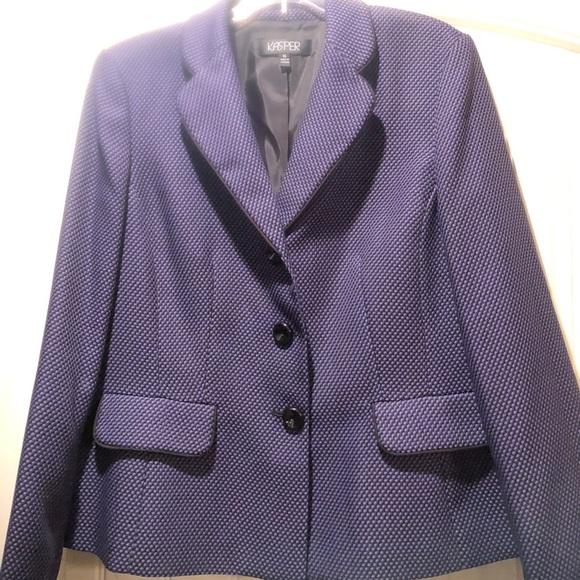 a57c3c127b2 Kasper Jackets   Blazers - Kasper Purple and Black Lined Career Blazer