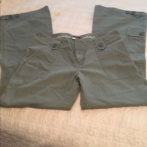 Army green cargo style pants