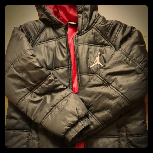 6efd60d3ccd Nike Jackets & Coats   Boys Jordan Jumpman Black Puffer Coat Jacket ...