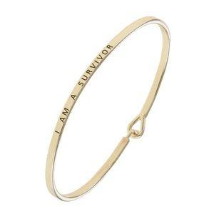I'm A Survivor Gold Dainty Bracelet