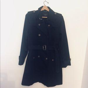Talbots black trench coat