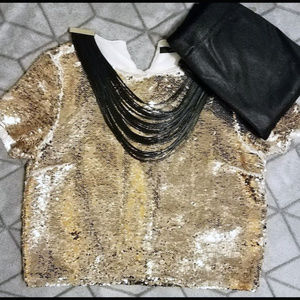 Gold Sequin Mermaid Shirt