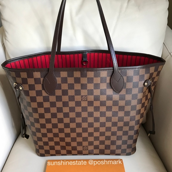 ae43e4432b3 Louis Vuitton Neverfull Damier Ebene MM bag NEW!