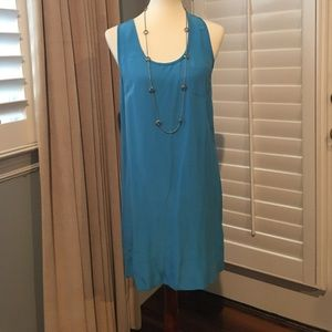 Joie Slip Dress, Sky Blue, 100% Silk/Soie