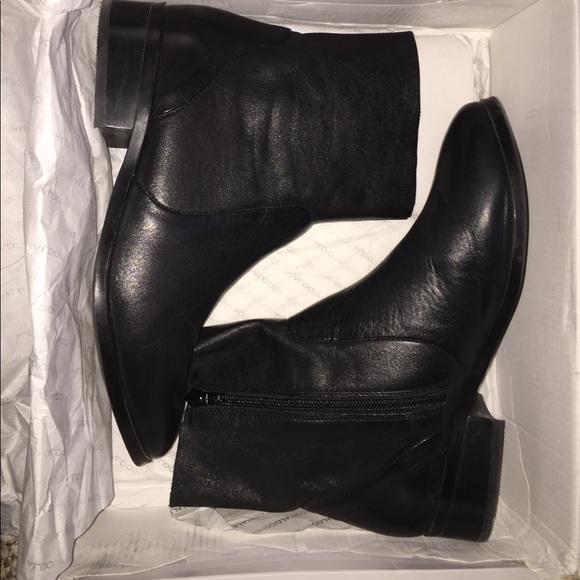 Aldo Elia Black Leather Sock Flat Ankle