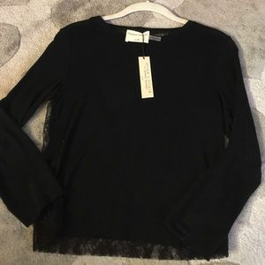 Alice + Olivia Lace Back Sweater NWT XS