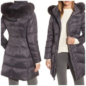 1 Madison Fox Fur Hooded Coat