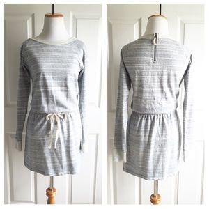 Loft Zip Back Sweatshirt Dress