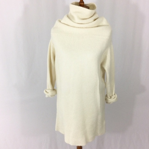 Hm Sweaters Cream Turtleneck Knit Sweater Dress Poshmark