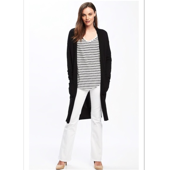 Open-Front Super-Long Cardigan Sweater 29f4bb8ff