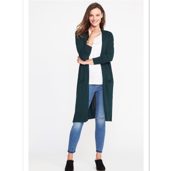 53f6f3d2da2 Open-Front Super-Long Cardigan Sweater