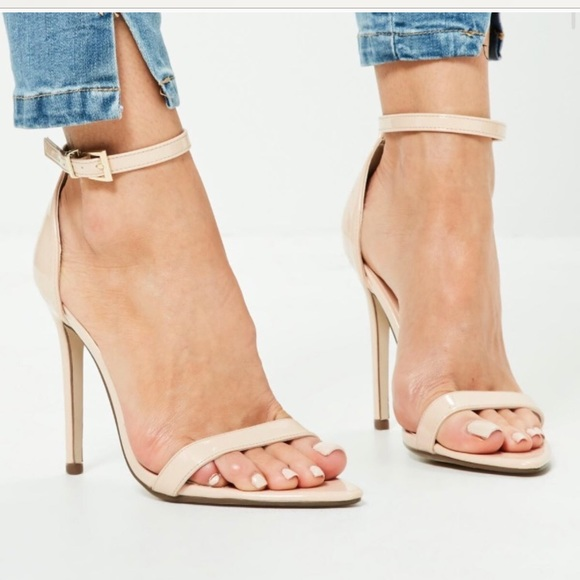 2f850b59be4 Pointed toe barely there nude heels. NWT. Missguided