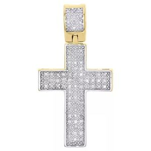 Other - Genuine Diamond Cross Real 925 Vermeil Gold  New
