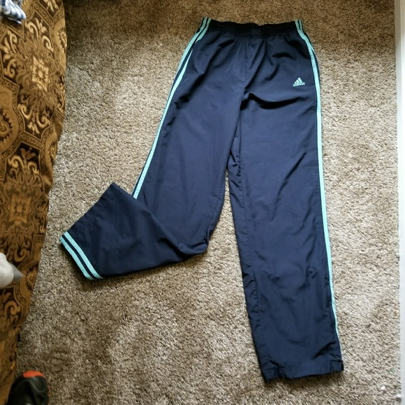 cf7286b43ae2 Adidas running track pants athletic gym medium. M 59fdde1c7f0a05ca96083be8