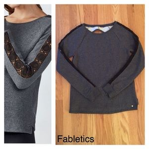 FABLETICS Soft Sweatshirt Lace Inset & open back