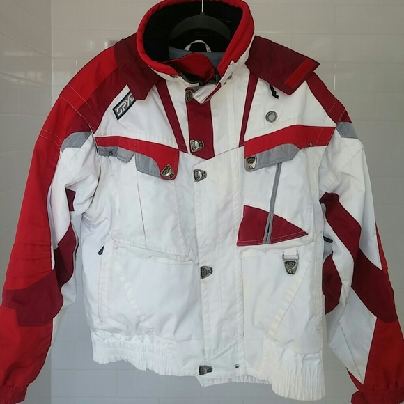 b34e60b0dc Spyder Men s Ski Jacket Large red white gray. M 59fddfdf7fab3ade89084147